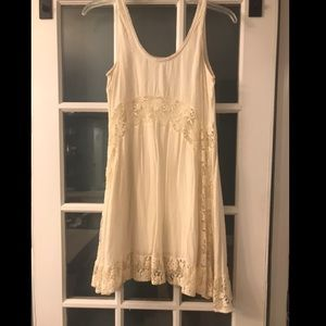 Lacey cream dress